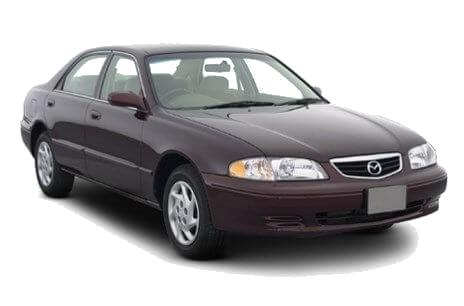 Лобовые, боковые и задние стекла на Mazda 626